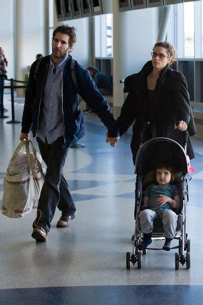 Amanda Peet and David Benioff - Amanda Peet at LAX