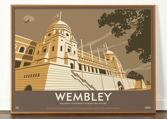 Maine Road, Highbury, Roker Park and Wembley Lost Destination prints from Dorothy