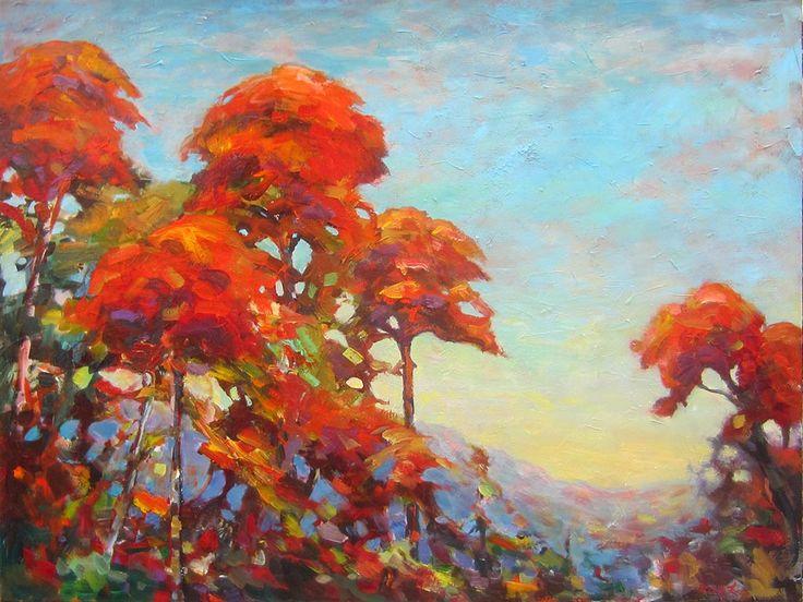 Red ridge par Micheal Foers, artiste présentement exposé aux Galeries Beauchamp. www.galeriebeauchamp.com