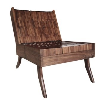 Block Chair. Riffing on the pin impression toy, in which a shape is transferred through rigid metal, this set's solid interlocking walnut blocks conform to the sitter's body thanks to the foam padding underneath. $3,200.00