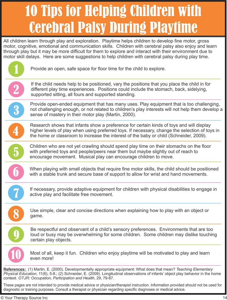 10 Tips For Helping Children With Cerebral Palsy During