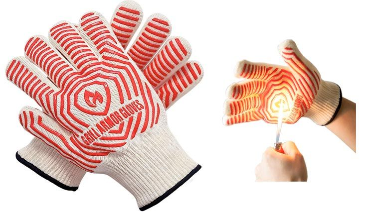 Grill Armor Extreme Heat Resistant Oven Gloves for BBQ Grilling Baking