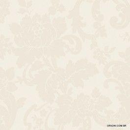 Papel de parede Decoração Floral Origini 69-47 , Wallpaper, Importado, Lavável, Superfície lisa, Tons de Bege Acetinado
