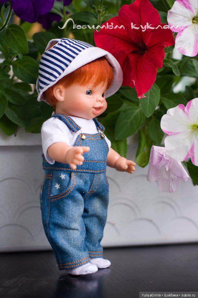 Джинсовая одежда для малышей-павлят от Paola Reina / Одежда для кукол / Шопик. Продать купить куклу / Бэйбики. Куклы фото. Одежда для кукол