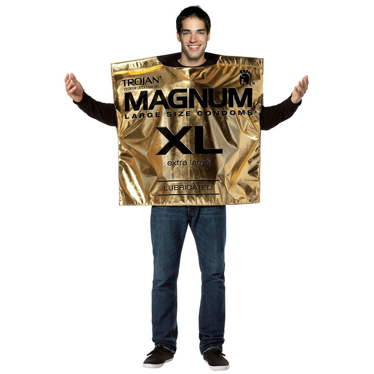 That's what we like to see! Trojan Magnum Condom Costume