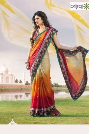 Brijraj Exclusive Multicolor Saree