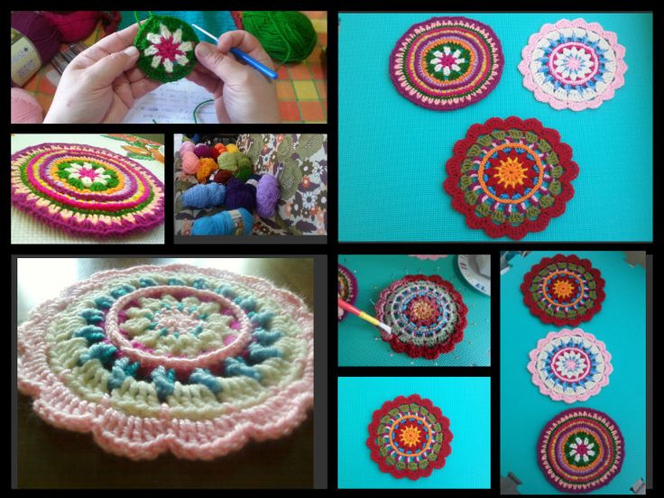 collage with my mandalas