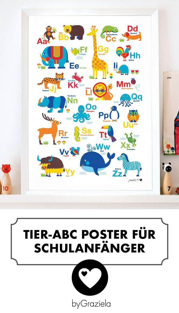 Tier Abc Poster Poster Kinderzimmer Abc Poster Kinderposter