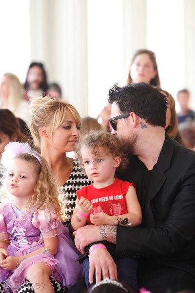 Nicole Richie and Joel Madden enjoy a family day at Disneys Royal Celebration