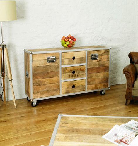 Roadie Chic Large Sideboard #lounge #livingroom #interior #bohointerior #bohemianhome #bohemian #homedecor #storage #furniture #woodfurniture #homeinspiration
