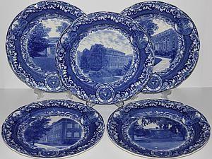 Подробнее о лоте - старинные сине-белые тарелки, Copeland, Англия, 1931 год - Ярмарка Мастеров - ручная работа, handmade