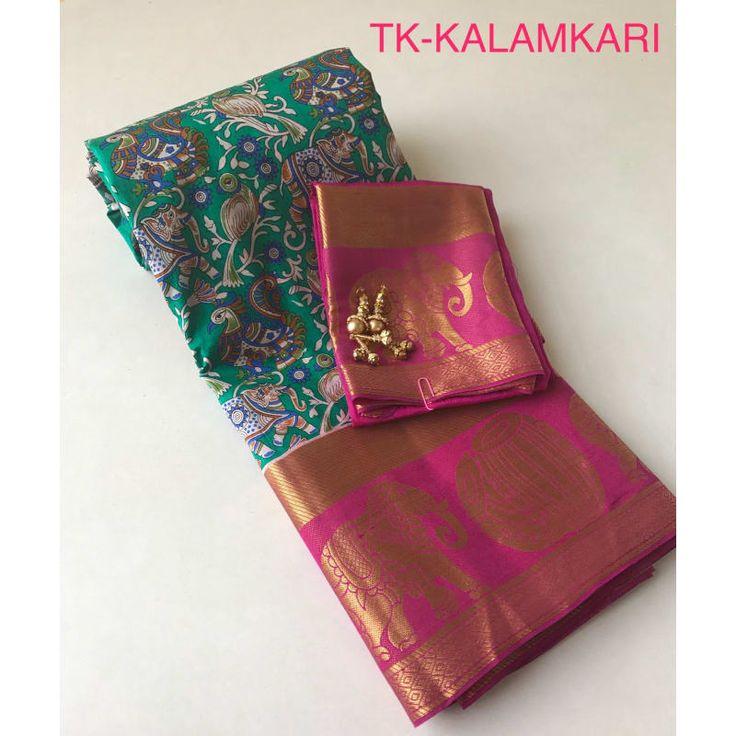 Kalamkari Pochampalli Silk Saree