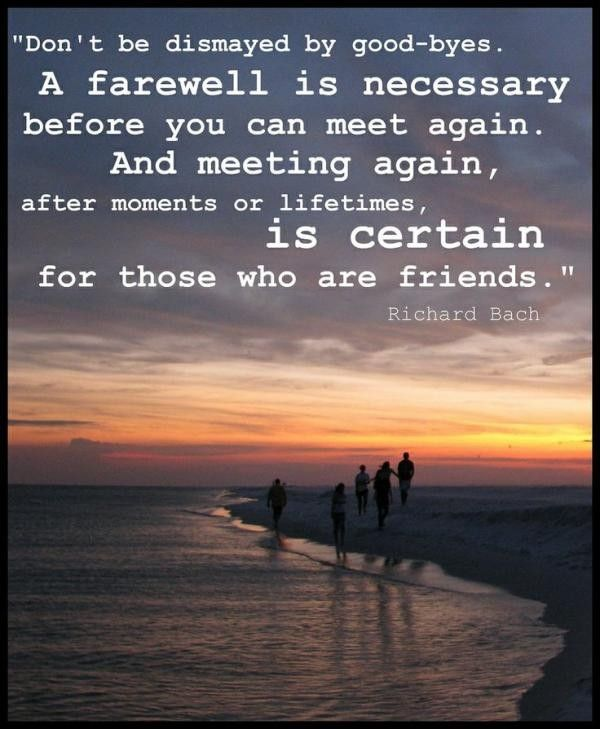 Farewell quotes, cute, best, sayings, richard bach