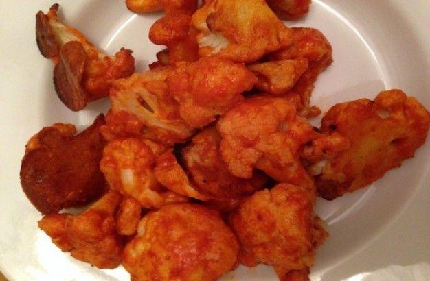 "Healthy  Super Bowl snack! Cauliflower Buffalo ""Wings"""