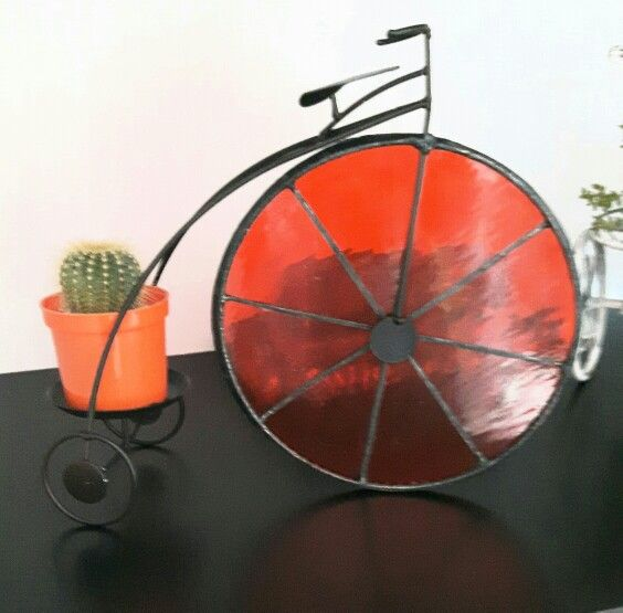 Bicleta con vitral