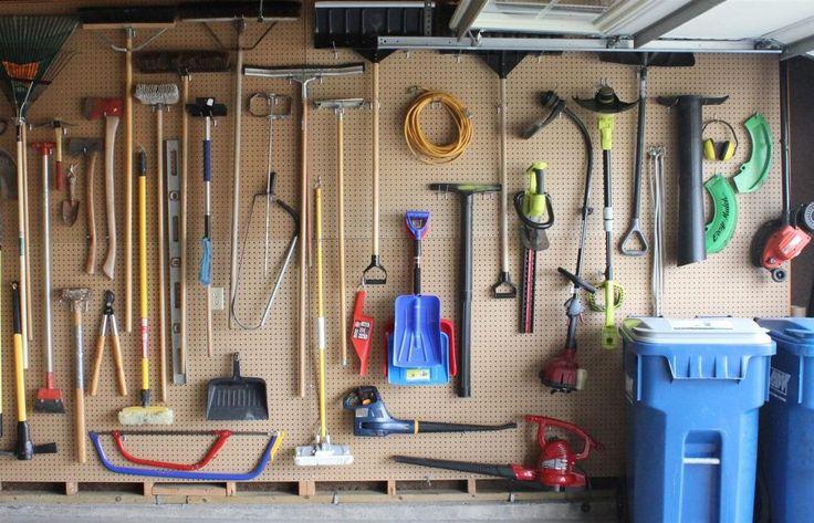 pegboard garage organization