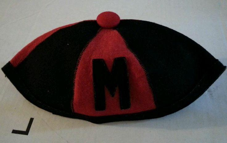 Vintage 1940s 1950s College Freshman Beanie Hat Red ...