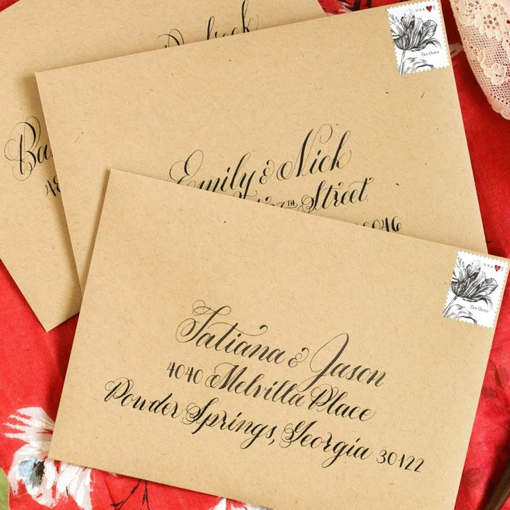 handwrite or print wedding invitation envelopes%0A How to Space Calligraphy on Envelopes  Wedding EnvelopesWedding InvitationsPaper