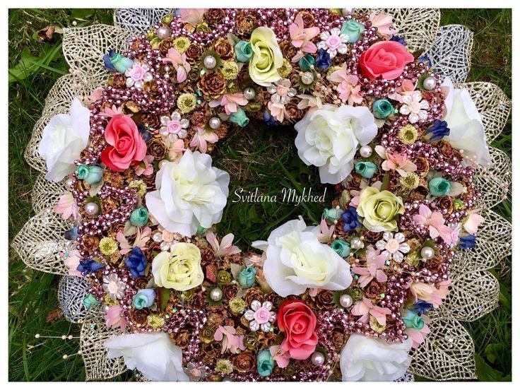 Les 25 meilleures id es concernant couronnes de porte d for Decoration porte entree pour mariage