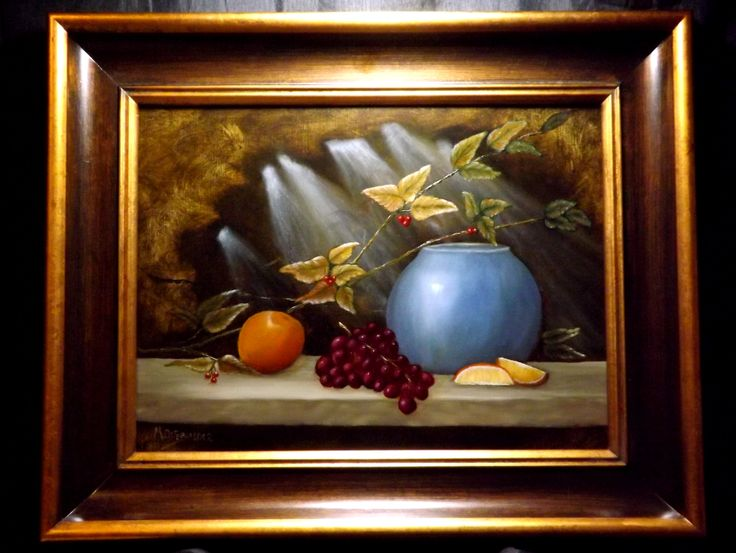 12x16 oil painting of oranges and berries wwwpaintsbymichaelcom