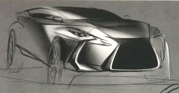 Lexus lf nx sketch