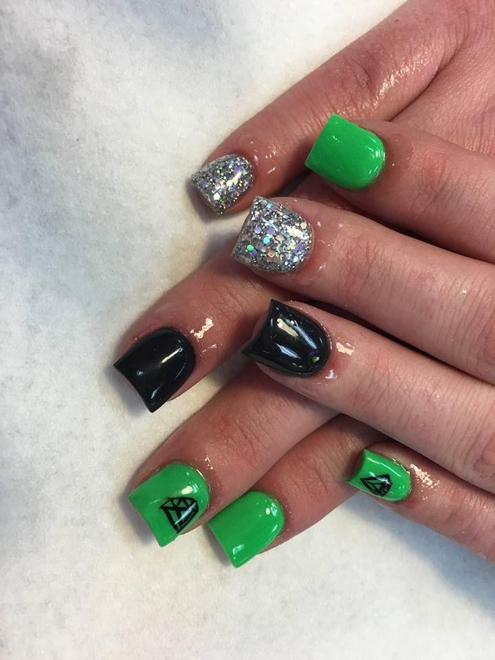 Fox Racing Acrylic Nails