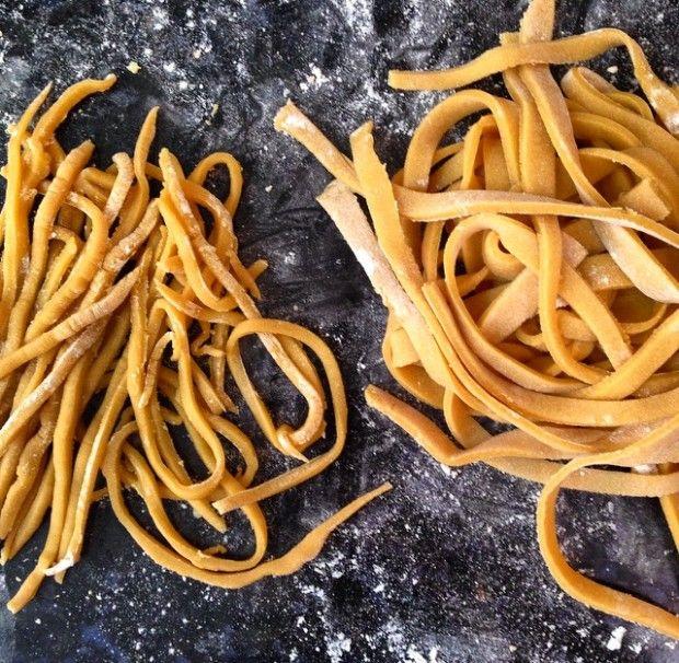 macarrão sem gluten de grão de bico. Pode ser utilizado para base de quiche também