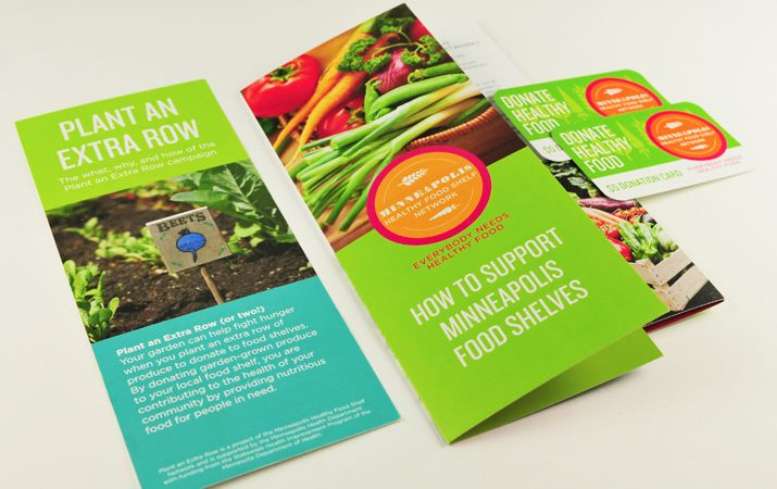 Minneapolis Healthy Food Shelves campaign #Brochure #Campaign - food brochure