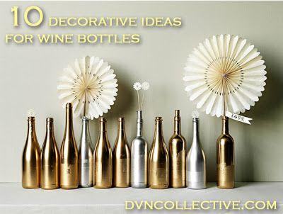 10 ways to reuse   decorate wine bottles