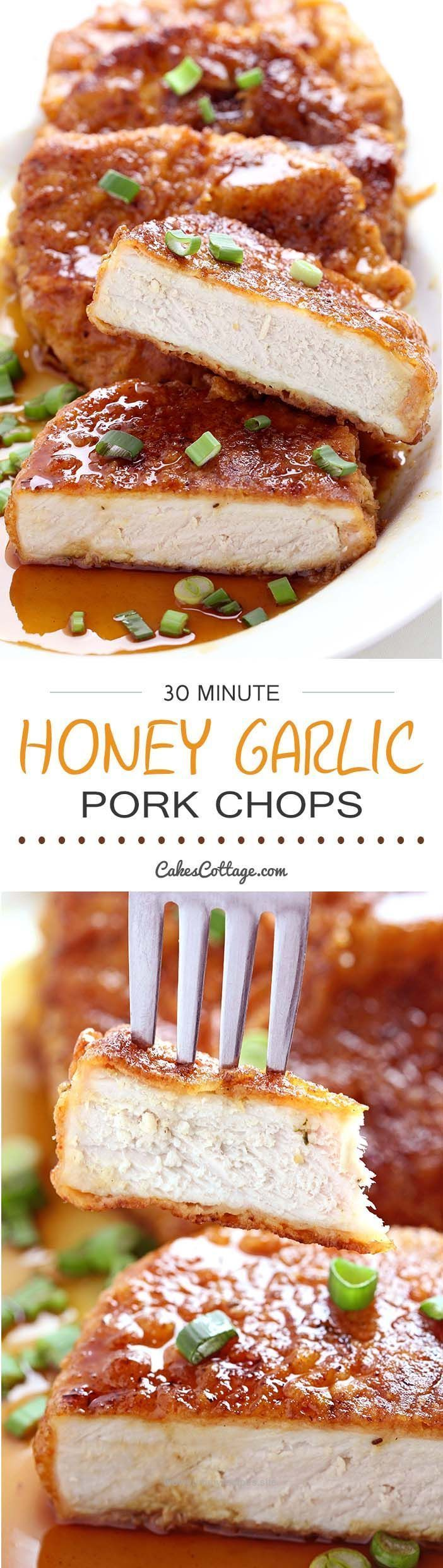 Great Double dipped and deliciously crunchy pork chops, coated in a sticky honey garlic sauce that is out of this world. So good, you'll want to use this sauce on everything!  The post  Doubl ..