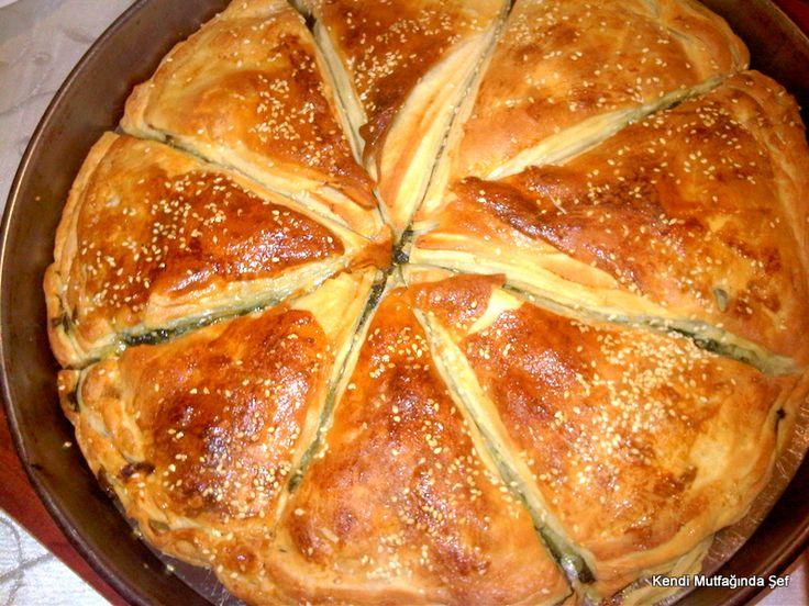 Ispanaklı açma börek