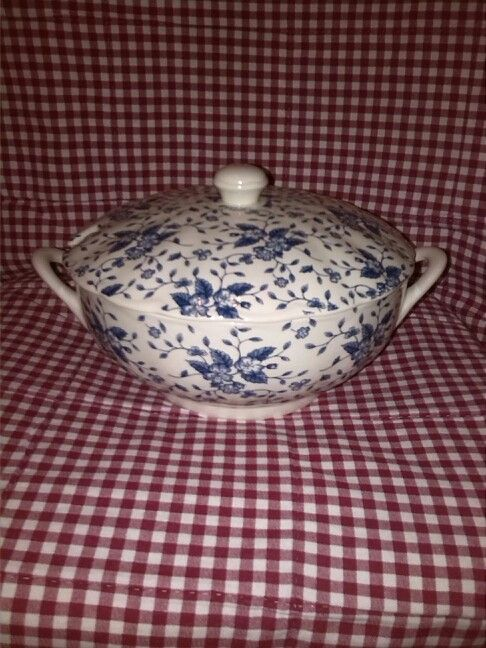 Royal Tudor Grindley Bouquet Blue soepterrine