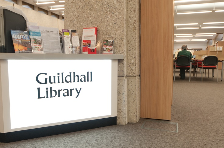 An image from inside Guildhall Library. We are a public reference library specialising in the history of London.