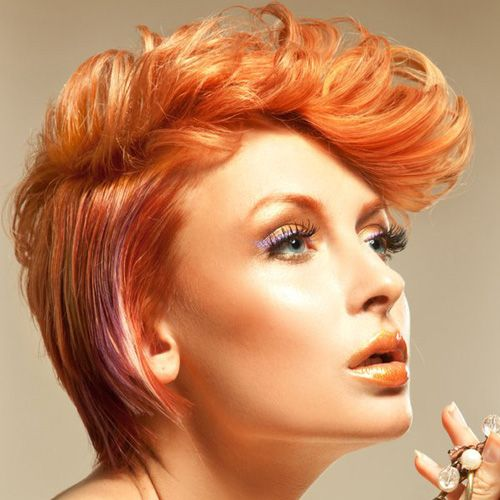 colored Hair | Punk short hairs can be used in variety of colors and fits them ...