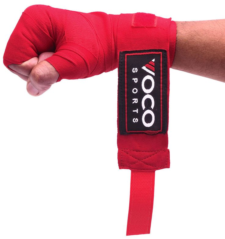 VOCO Sports Hand Wraps for Grappling,MMA,Boxing,Muay Thai Gloves - Red in Sporting Goods, Boxing, Gloves   eBay