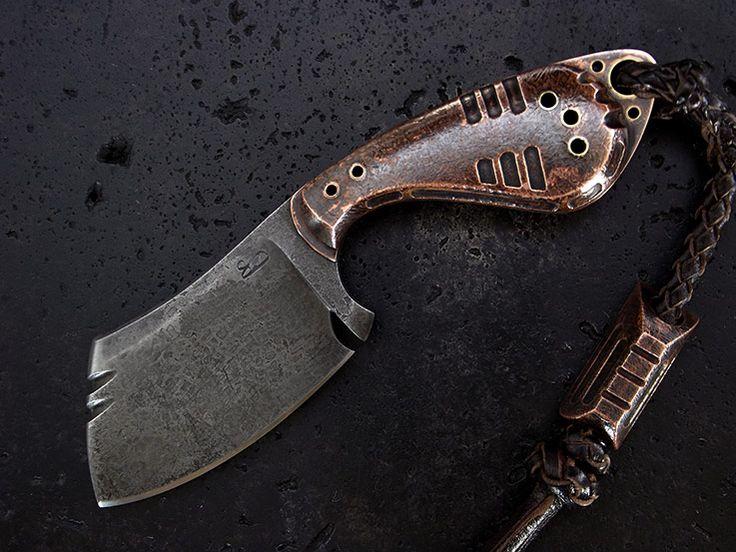 stone-wood designs: Custom  Cleaver Knife 234