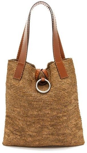 Michael Kors Kollektion Janey Ring XL Tote #michaelkors #straw #tote #purse #bag …