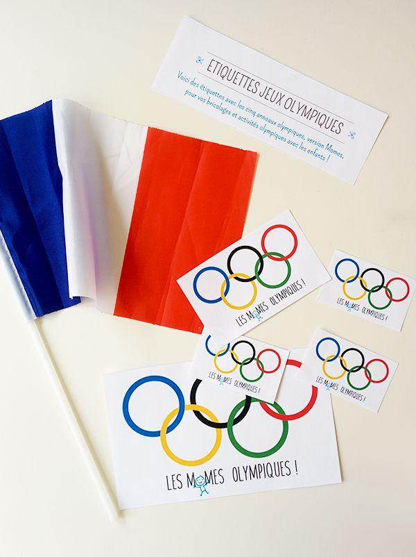 Des petites étiquettes jeux olympiques toutes simples, à imprimer pour vos bricolages et fêtes enfants autour de la thématique des jeux…