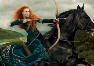 Jessica Chastain - Jessica Chastain as Princess Merida from 'Brave': Disney Dream Portraits