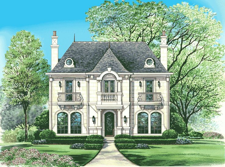 1000 images about house plans medium to ginormous on for Narrow lot luxury house plans