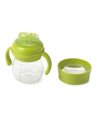 Look at this #zulilyfind! Green 6-Oz. Transitions™ Soft-Spout Sippy Cup & Open Trainer Lid #zulilyfinds