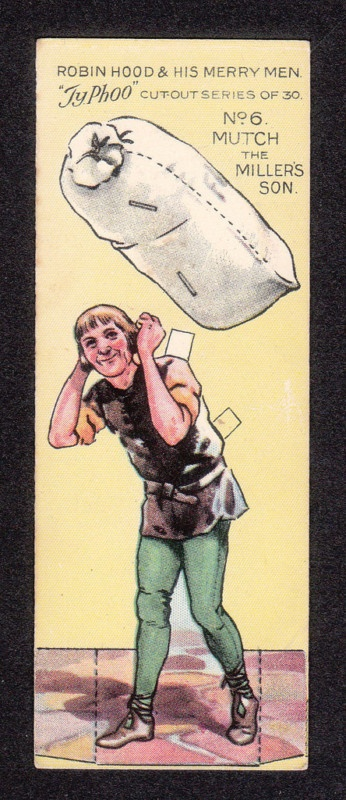 Robin Hood Scarce 1928 Typhoo Tea Paper Doll Card #6 Mutch the Miller's Son | eBay