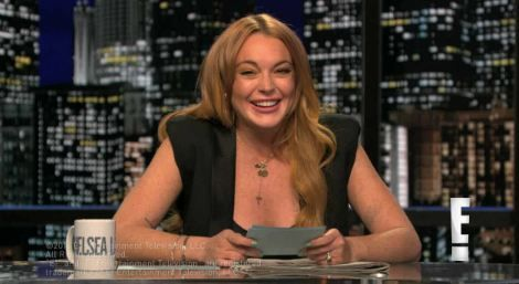 Click here to see a clip of Lindsay Lohan hosting Chelsea Lately!