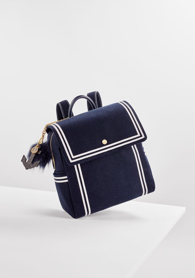 Welcome to the new nautical: the TOMMYXGIGI collection is a playful update of seafaring classics. Travel is calling with the nautical backpack. --with Gigi Hadid --