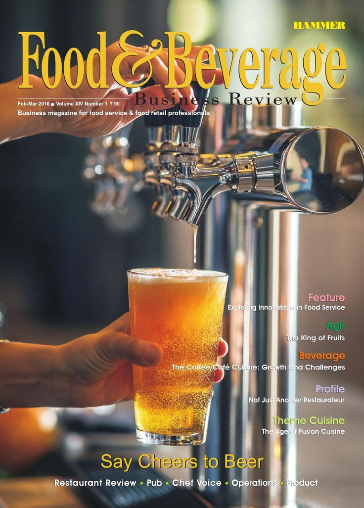Food & Beverage Business Review ( Feb-Mar 2016)  Here we have focused on the frothy and fascinating world of beers, in the context of the Indian market. The happening trends in the beer business in India, a broad categorisation of beers and beer's various healthy facets are being discussed. The Feature section deals with innovative themes, an innovative model and an innovative operational process in the Indian restaurant business. The growing business of coffee café culture in India is…