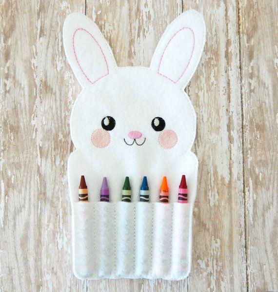 felt crayon roll up  Easter toys for kids  Easter by ToriLynnes