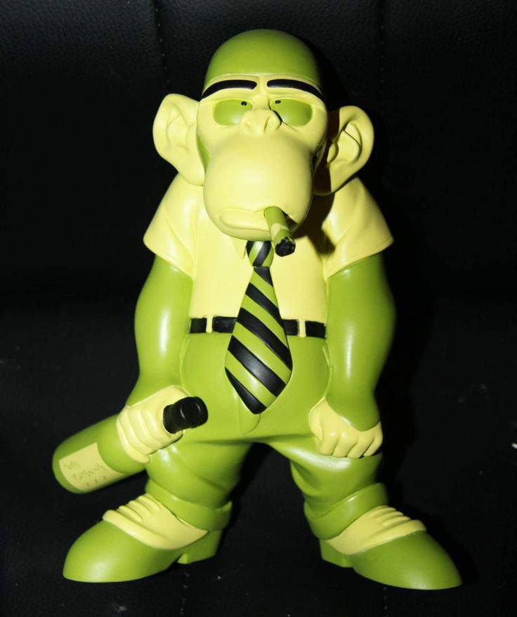 Frank Cho Monkey Boy Green vinyl figure statue Liberty Meadows smokin Mindstyles #Mindstyles ....Up for auction NOW