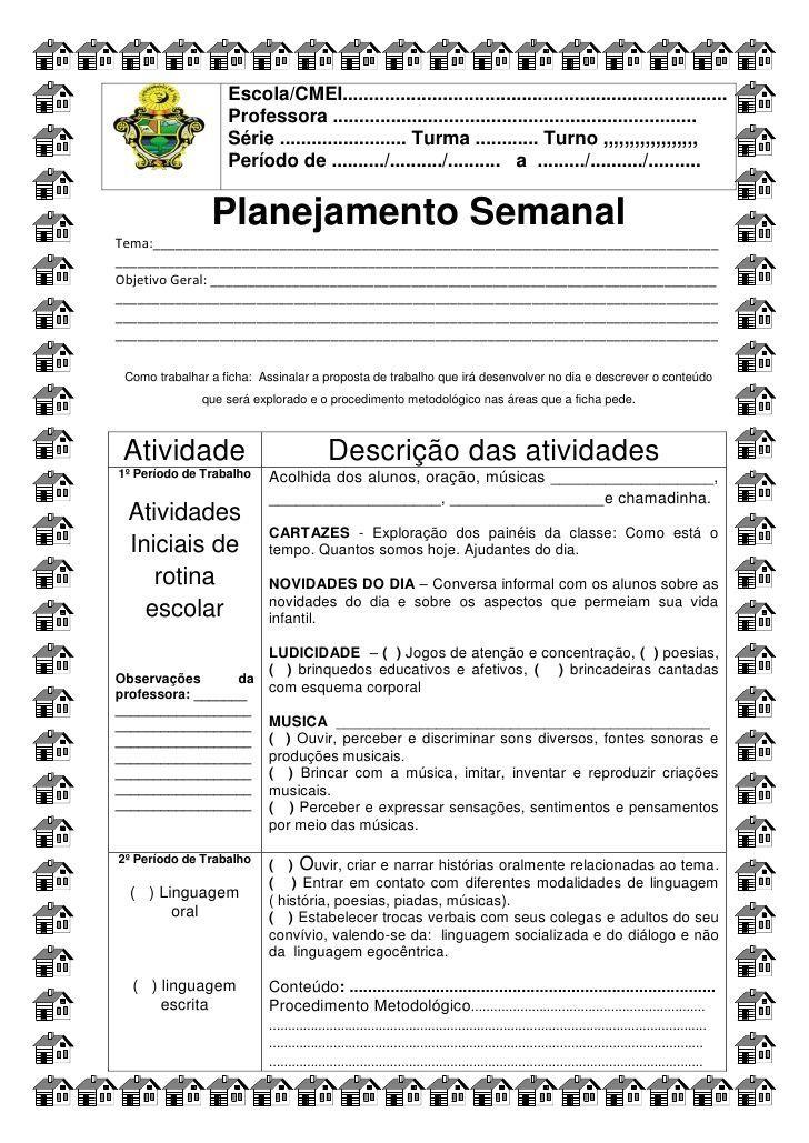Ficha para o planejamento diário semed de simone helen drumond