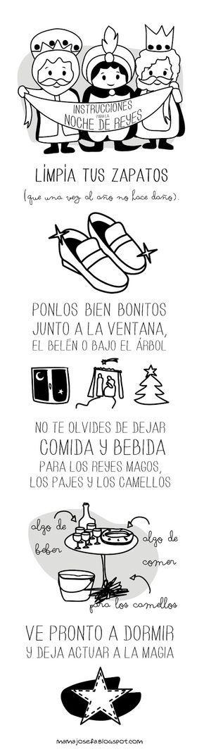 En el Blog de Mamá Josefa ¡Ya vienen los Reyes Magos! - Instrucciones para la Noche de Reyes