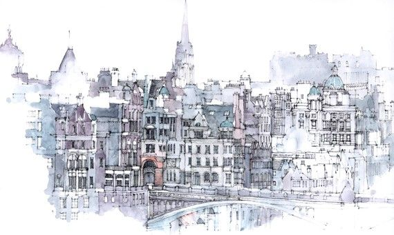 Edinburgh an architectural print relisted 2 sold by simoneridyard